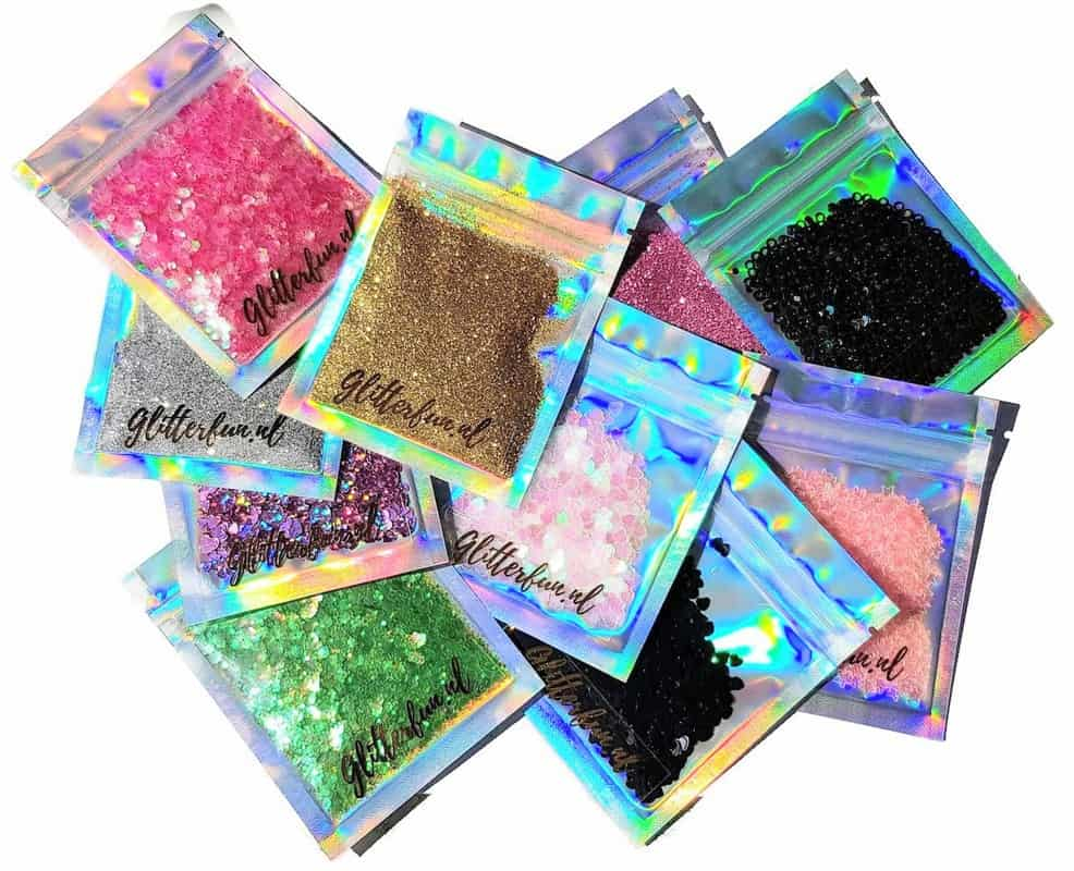 Zakjes glitter van glitterfun