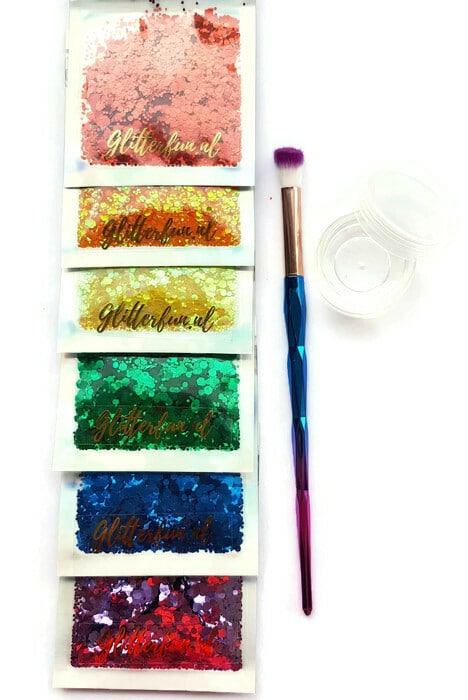 BU001 Pride chunky glitter bundel - regenboogvlag