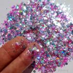 Roze glittermix