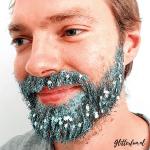 Lichtblauwe fijne glitter