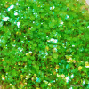 Groen transparant hexagon glitter - 1/2/3 mm