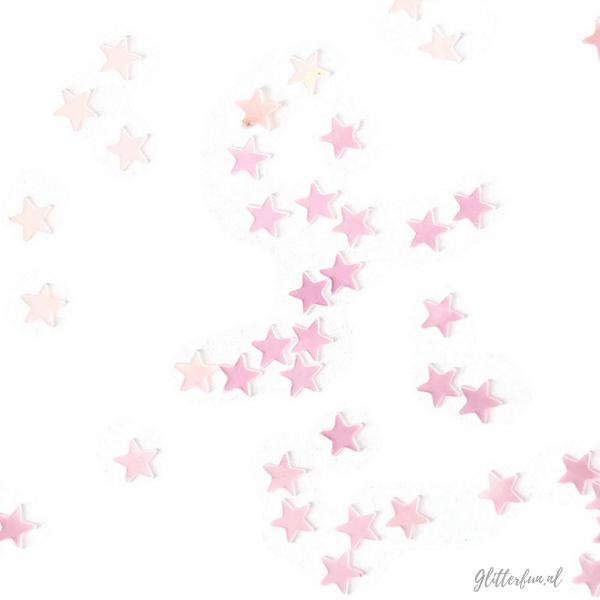 Roze sterren glitter