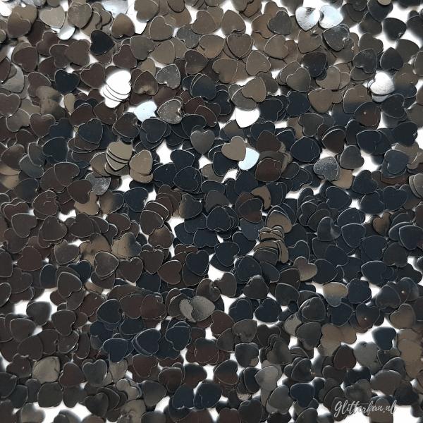 Zwarte hartjes - 4mm