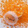 Oranje hologram hexagon glitter - 1-3 mm - koningsdag