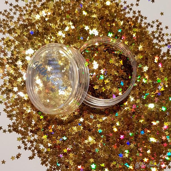 Sterren, goud en hologram 3mm – glitter