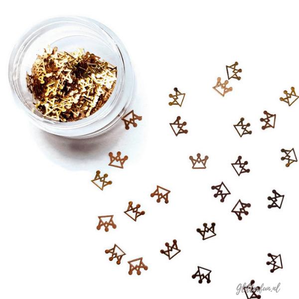 Kroontje mini goud - 3mm