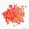 Roze, oranje confetti glitter - 1-3 mm (3)