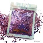 Paars hexagon glitter – 1-3 mm