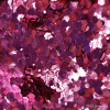 CG018 Roze/fuchsia hexagon glitter - 1-3 mm