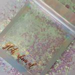 Sterretjes glitter – transparant – 3mm