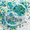 Blauwe losse glittermix