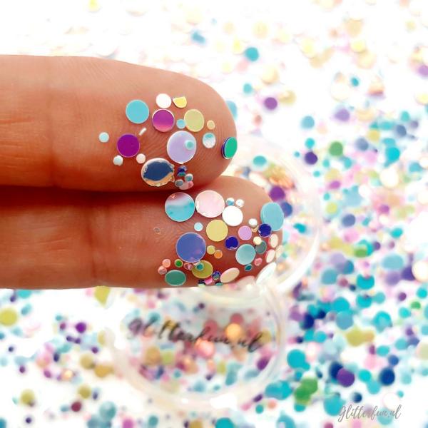 Pastel confetti glittermix – 1-4mm