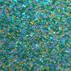 blauw groen ronde glitter
