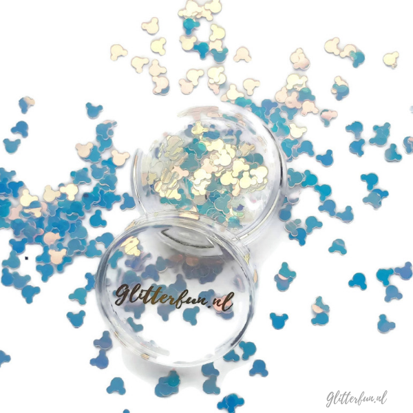 Mickey Mouse glitter – transparant – 5mm