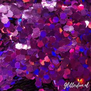 Grote paarse holografische glitter