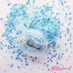 Hartjes en sterretjes glitter blauw