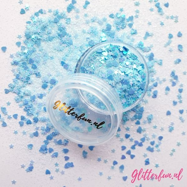 Hartjes en sterretjes glitter