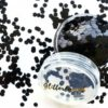 Zwarte glitter - 3mm