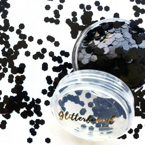 Zwarte glitter – 3mm