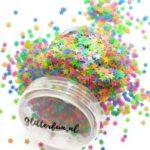 Neon sterren glitter – blacklight