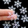 Sneeuwvlokken glitter groot - 3cm