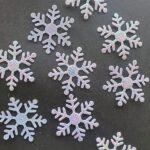 Sneeuwvlokken glitter groot – 3cm