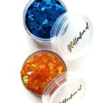 Lampegat glitter – blauw en oranje – glim