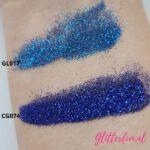 Donkerblauwe fijne glitter