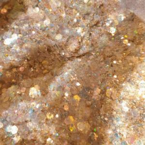 Goud transparante glittermix