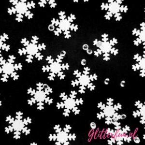 Sneeuwvlokken glitter met diamantjes