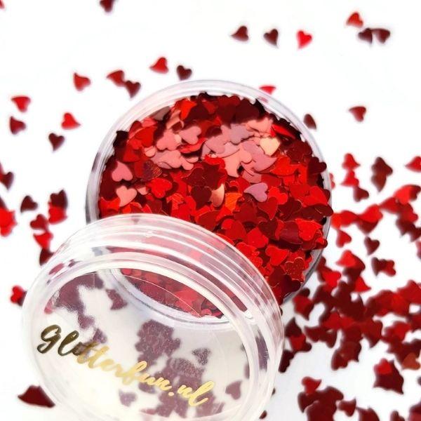 rode hartjes glitter