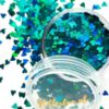 Blauwe hartjes glitter