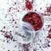 rode glitter mix fijn en grof