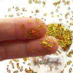 Gouden hartjes glitter
