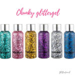 Paarse glittergel – chunky