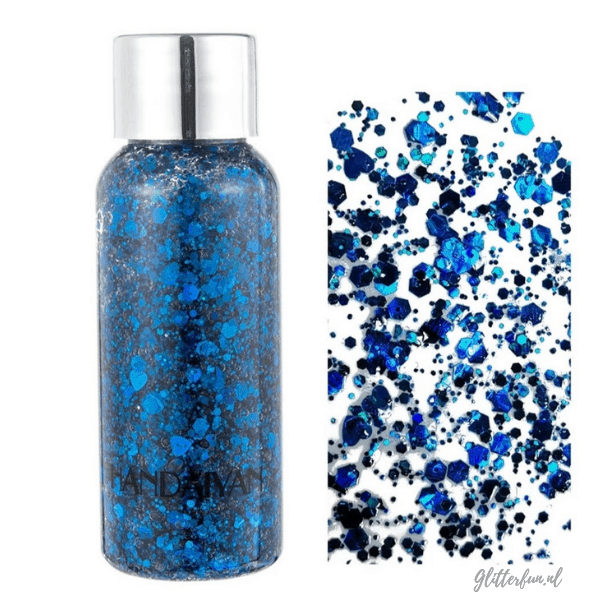 Blauwe glittergel – chunky