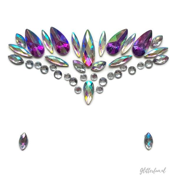Fantastic peacock – Gezichtsdiamanten