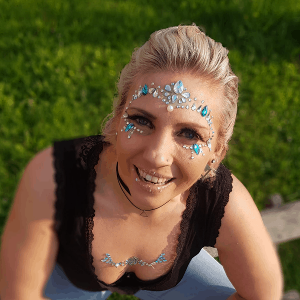 Glitterfun face gem rondom gezicht