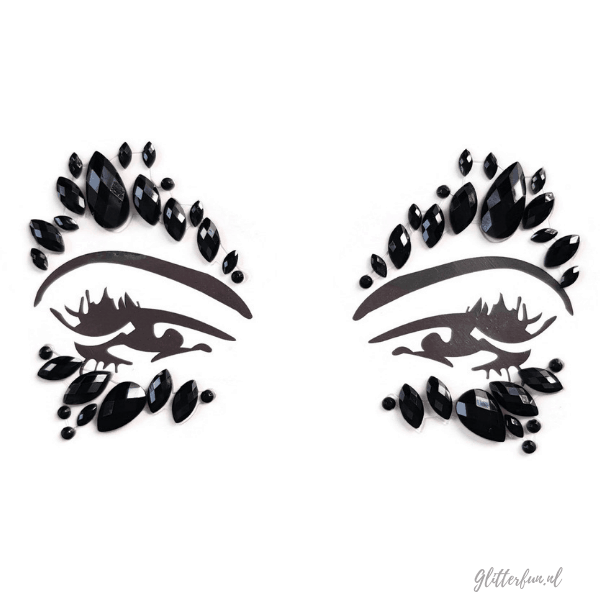 Black swan - face gems