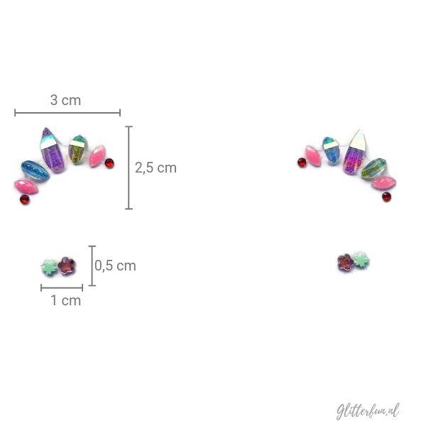 Rainbow - gezicht kristal sticker