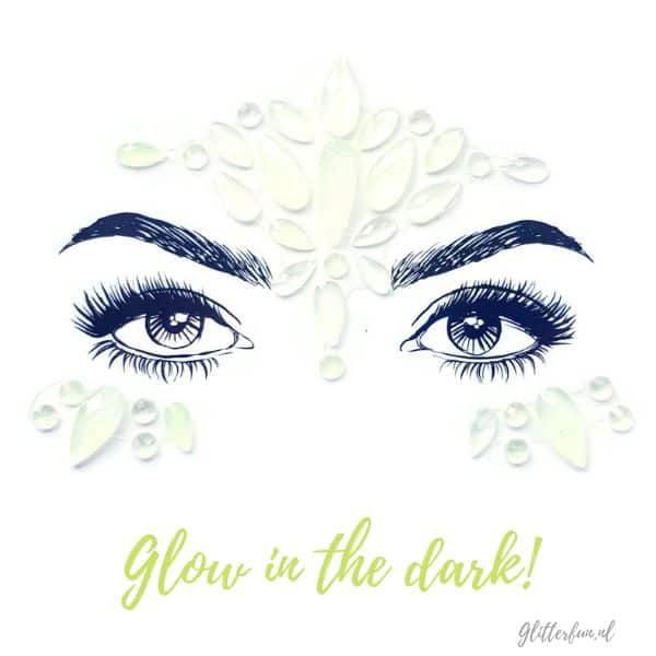 Glowing tears - Glow in the dark face gems