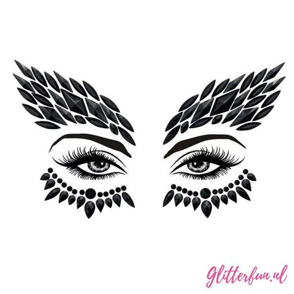 Sweet but psycho – zwarte gezichtstickers