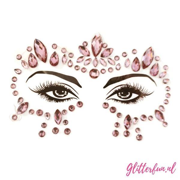 Pink gezichtsticker