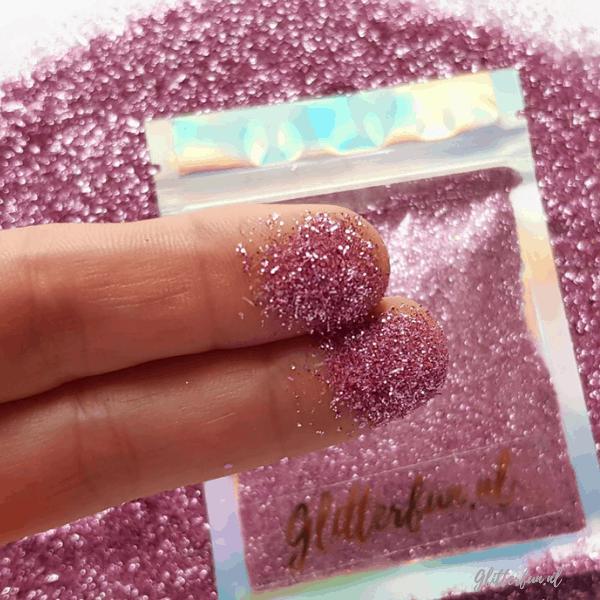 Fijne roze glitter