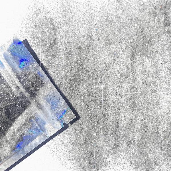 Fijne zilveren glitter