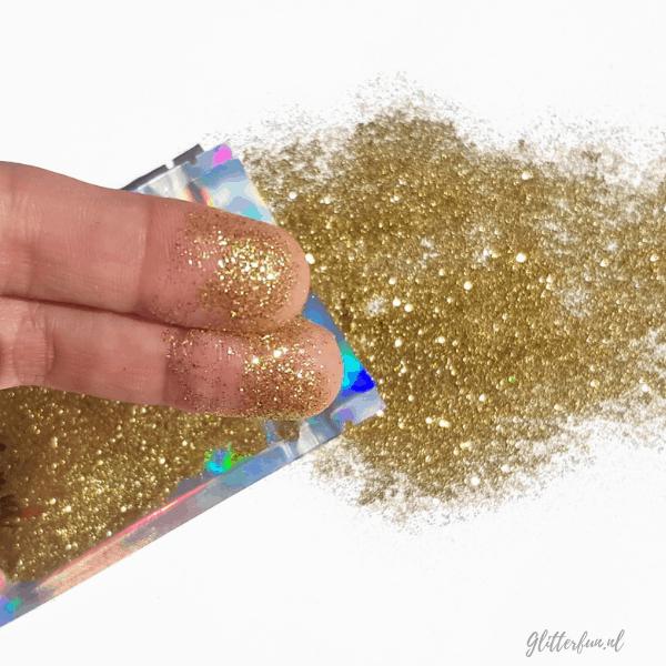 Fijne gouden glitter