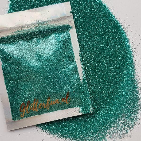 Fijne turquoise glitter