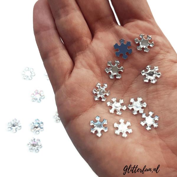 Zilveren sneeuwvlokken