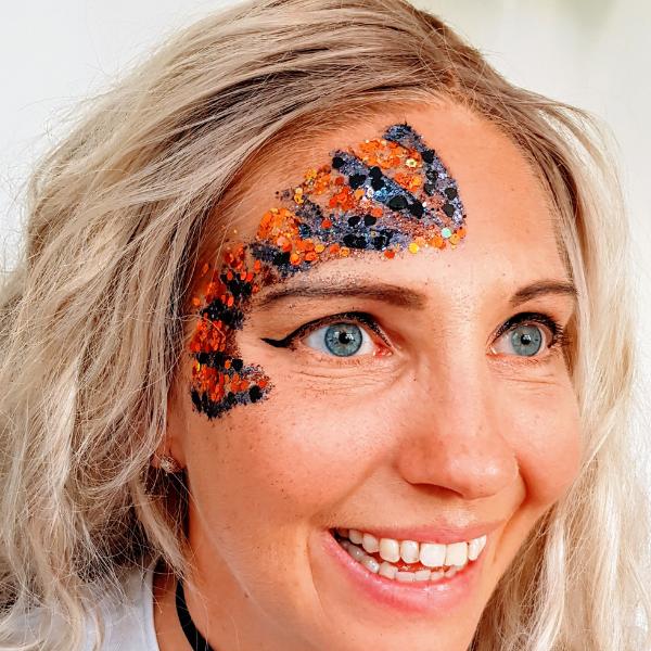 glitterfun.nl voorbeeld oranje zwart herfst